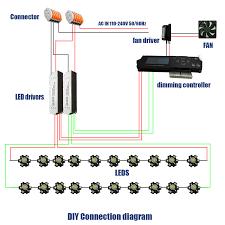 led aquarium light controller diy sunset wireless dimmable 60w 90w 120w led aquarium