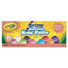 Crayola Bathtub Fingerpaint Soap Non Toxic by Crayola Washable Neon Paint 10 Pack Walmart Com