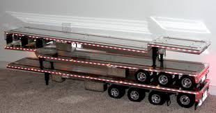 custom aluminum flatbed trailers for tamiya trucks realistic