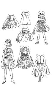 Doll Dress American Girl Coloring Pages