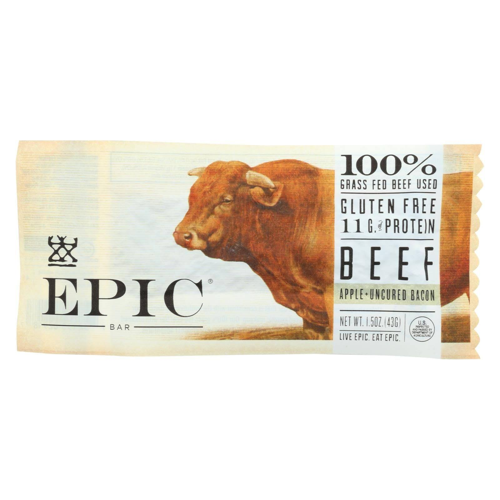 Epic Beef Bar, Apple + Uncured Bacon - 1.5 oz