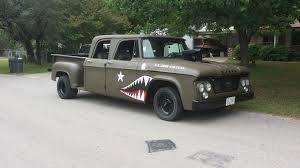 My 1965 Dodge D200 Crew Cab. | Flying Tiger Vehicles | Pinterest ... 1965 Dodge D100 Beater By Tr0llhammeren On Deviantart Kirby Wilcoxs Short Box Sweptline Pickup Slamd Mag Hot Rod Network A100 5 Window Keep On Truckin Pinterest File1965 11304548163jpg Wikimedia Commons D700 Flatbed Truck Item A6035 Sold February Nickelanddime Diesel Power Magazine Used Truck Emblems For Sale High Tonnage Gasoline Series C Ct Sales Brochure Vintage Intertional Studebaker Willys Othertruck Searcy Ar Ford With A Ram Powertrain Engine Swap Depot