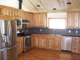 Log Cabin Kitchen Cabinet Ideas by Rustic Hickory Cabinets Kitchen Rustic With Cabin Hickory Knotty