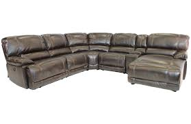 azul right facing reclining 6 piece chaise sectional mor