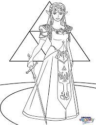 Legend Of Zelda Princess Coloring Page