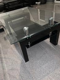 couche tisch wohnzimmer glastisch schwarz