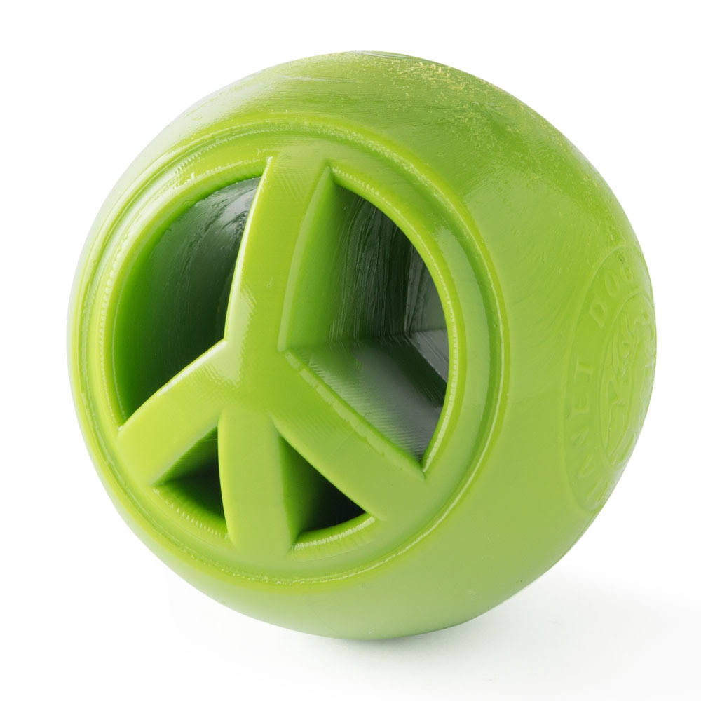 Planet Dog Orbee Tuff Nooks Dog Toy, Peace, Green