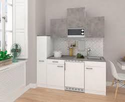 küchenblock ecoomy b 180 cm weiß beton