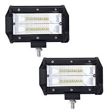 led pods light auto power plus 2pcs 5 inch 144w