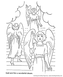 Jacob Had A Dream About Angles On Stairway To Heaven Print This Bible Story Character Coloring Activity Sheet