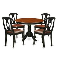 5 Pc Set With A Round Kitchen Table And 4 Leather Dinette Chairs In ... Live Edge Acacia Wood Iron 106 Ding Table W 5 Chairs Bench Signature Design By Ashley Charrell Piece Round Set Hooker Fniture Archivist With Pedestal Shop Picasso Pc Kitchen Table Set Leaf And 4 Plainville Settable Vintage Joanna Vintagrpjoannatbl5 Leg Side Detail Feedback Questions About Goplus Pcs Black Room Boconcept Granada Extendable Aptdeco Coaster Barzini Leatherette Mix Match 150041 Counter Height Dunk Costway Metal Canterbury Extension Noa Nani