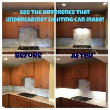 Before After Under Cabinet Lighting