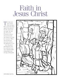 Coloring Page Faith In Jesus Christ