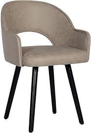 sixbros 7015x 7690 esszimmerstuhl aus kunstleder polsterstuhl mit armlehne polstersessel in grau stuhl für esszimmer wohnzimmer küche