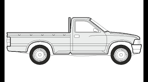 100 How To Draw A Truck Step By Step Huge Collection Of Pick Up Truck Drawing Download More Than 40
