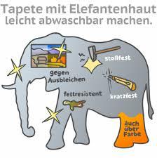 tapeten mit tapetenhaut elefantenhaut versiegeln