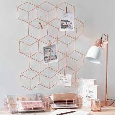 Cool Gold Room Accessories White And Tumblr With Honeycomb Design For Hanging