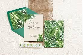 Tropical Wedding Invitations Leaf Destination