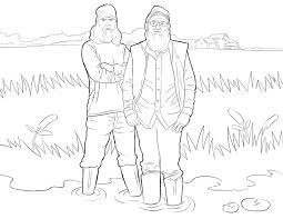 Duck Dynasty Coloring Pages Free Printable PDF Sheets For Kids