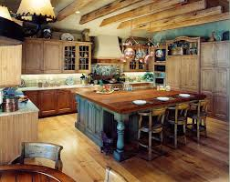Kitchen Awesome Island Rustic Combined With Classic Styled Chairs And Tiled Backsplash