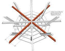 gorgeous octagon picnic tables plans and best 25 octagon picnic