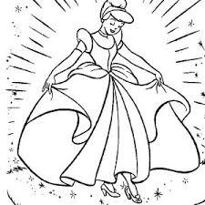 Cinderellas New Beautiful Dress In Cinderella Coloring Page