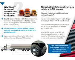 What Distance Is Needed From by Reduced Stopping Distance Rsd Textar Brake Technology