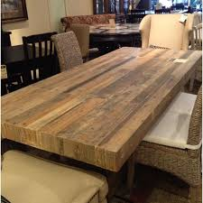 Reclaimed Dining Room Table Chevron Fama Creations 6