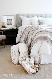 Creating A Cozy Bedroom With Beautiful Soft Layers Of Bedding Padded Headboard And Fur