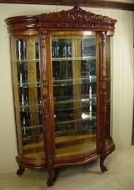 large oak china cabinet