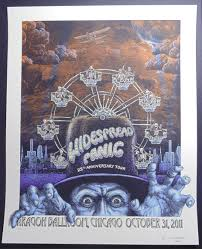 Widespread Panic Halloween by Lot Detail 2011 Emek Widespread Panic Chicago Concert Poster