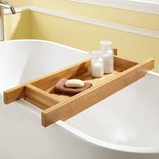 teak tub caddy clawfoot tub accessories bathroom accessories