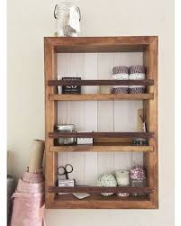 Medicine Cabinet Essential Oil Shelf Bathroom Decor Rustic Wall