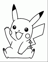Outstanding Pokemon Black And White Pikachu Coloring Pages With Pdf