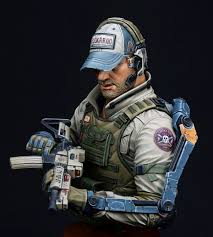 100 Pmc 10 Exo Suit PMC Ghost Company 1 Bust By Yoon PuttyPaint