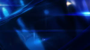 Breaking News Style Rotating Abstract Shape With Lens Flares Blue Background