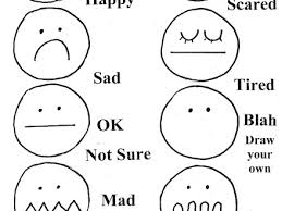 Free Worksheet Emotion Face Coloring Pages