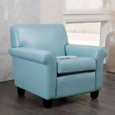 Teal Living Room Chair by Blue Leather Chair Ebay