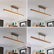 100 Wooden Ceiling Tamlin LED Wooden Ceiling Light Beech 100 Cm