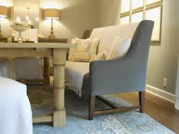 Banquette Seating Ideas Grey Bench With Teak Dining Table And Area Rug For Room Decoration Kitchen