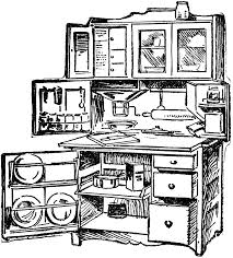 Coloring Page Kitchen Room Buildings And Architecture 29