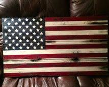 32 X 18 Wooden American Flag