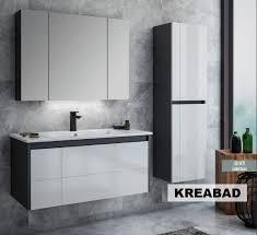 likya antrazit weiss 100x45 unterschrank antrazit weiss waschbecken spiegelschrank seitenschrank