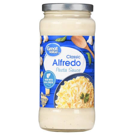 Great Value Classic Alfredo Pasta Sauce - 16oz