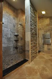 Primitive Country Bathroom Ideas by Small Bathrooms With Corner Shower White Polished Wooden Wall