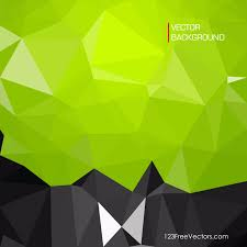 Black Green Low Poly Background Design