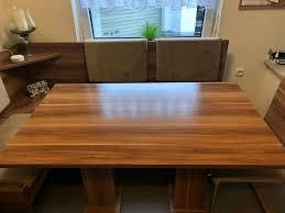 tischgruppe tisch stuhl stühle sitzbank buche braun bauer otto