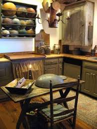 Primitive Kitchen Cabinets Luxury Beautiful Love The Dark Cupboards Contrasting With