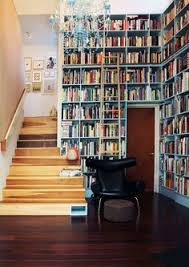 Inverted bookshelf for the book lover with a sense of humour
