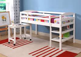 Desk Bunk Bed Combination by Bedroom Girls Room With White Wooden Loft Bed And Desk Also Open
